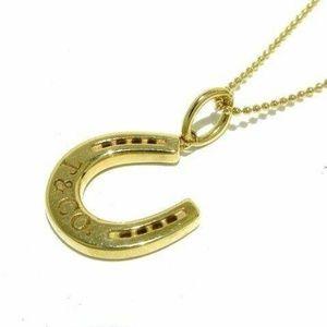 Tiffany & Co. Horseshoe Charm and Necklace 18k 750